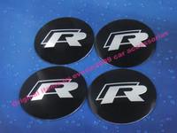 4 x R line Rline for car tuning 56mm Hub Caps Wheel Center Cover emblem Bedge