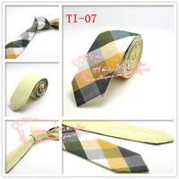 Hot selling,2015 Brand New,Men Green Multi color corbatas necktie,Mens Plaid double wear Cotton gravata Skinny Neck Ties,TI07