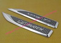 2pcs car blade MUGEN for Civic Accord side wing Fender Emblem Badge Sticker