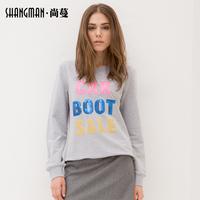 ( Spike ) round neck sweater hedging women thin coat loose long-sleeved shirt European style women