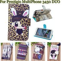 Luxury Cell Phone Accessories print cartoon Case flip pu leather case for Prestigio MultiPhone 3450 DUO ,gift