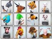 Venetian masquerade mask latex venetian mask animal  horse Rabbit  full Face Masks
