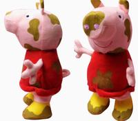 Free Shipping Kawaii Peppa Pig Plush Toys New Brinquedos 2014 Winter Christmas Gift Cartoon Mud Pepe Pig Doll Baby JuguetesKT081