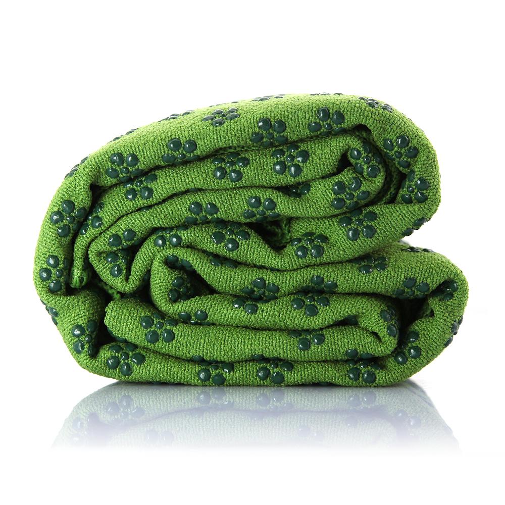 Altamente absorvente Yoga toalha Yoga Mat toalha sessões com Carry Bag verde cor(China (Mainland))