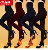 Plus velvet thickening warm pants high waist legging thermal underwear abdomen drawing one piece pants female