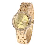 SHI KAI  New Fashion Casual Watch Women's Wristwatch Calendar Crystal Hours Steel Case Analog Ladies Rhinestone Quartz  Watches