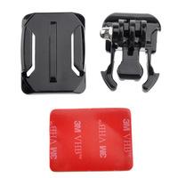 Helmet Curved Surface & Mount Black & 3M VHB Sticker for GoPro HD Hero3/2/1-Black