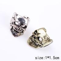 1PC Silver  and bronze New Hot  punk style Hollow Skull Head Ear Bone Clip Retro Unisex Non Pierced U-Shaped Ear Bone Earring