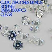 1000pcs 1-3.5mm crystal clear color AAAAA Brilliant cuts Round cubic zirconia beads cubic zirconia stones for jewelry diy