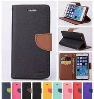 Fashion Cross Pattern PU Leather Wallet Pocket Mobile Case for iPhone 6 Plus 5.5inch,with card holders,1pc/lot