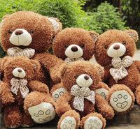 huge 100cm scarf teddy bear plush toy dark brown bear birthday gift b7809
