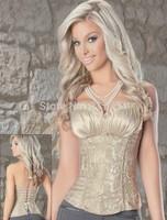 Hot Plus Size   Sleepwear Sexy Women Lace Tops Steel Bustier Lingerie Overbust Corset Dresses (S,M,L,XL)2249