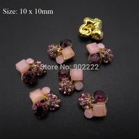 10pcs strass rhinestones nail art decorationgold metal 3d nail charms DIY nail salon accessories AM47