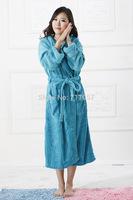comfatable flannel long women nightwear