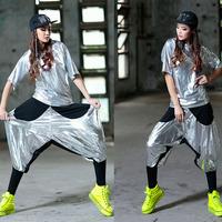 Jazz dance ds pants hypertensiveperson hip-hop pants sports pants hiphop jazz push-up loose patchwork pants