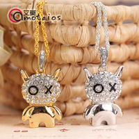 Ai Mo 2014 new OX doll 32GB fashion personality Necklace U disk crystal u birthday holiday gift USB free shipping