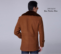 New wool coat 2015 Winter business casual wool outerwear wool coat male wool commercial slim coat fashion overcoat