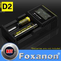 100% Original Nitecore D2 Digital Display Intellicharge Universal Battery Charger Intelligent charging  PowerIQ design for 18650