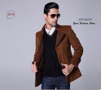 New winter wool coat 2015 Winter woolen overcoat medium-long male cashmere outerwear men's clothing wool coat thickening coat