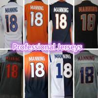 Cheap Peyton Manning Youth Jersey #18 American Denver Football Jerseys Free Shipping Embroidery Logo Super Bowl XLVIII