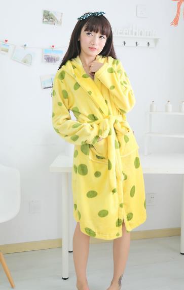 Симпатичные животные губка боб зима с длинными рукавами пижамы главная ночной халат женский костюм