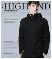 New 2014 wadded jacket male slim cotton-padded jacket male winter plus size medium-long thickening male cotton-padded jacket