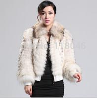 z90 New 2014 Top fashion women real raccoon fur short coat jacket casual warm overcoat natural furs ooutwear parka lady coats