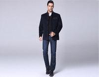 Autumn and winter woolen overcoat male cashmere woolen overcoat slim medium-long outerwear 06 - 1