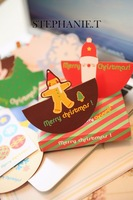 3D Christmas Card Set Santa Claus / Christmas Tree Series Greeting Card Office Stationery--Christmas Gift Novelty Toy