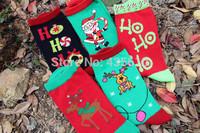3pair NEW! Brand Merry Christmas socks Christmas 2014 new winter socks male and female models Elk Santa Claus Short socks
