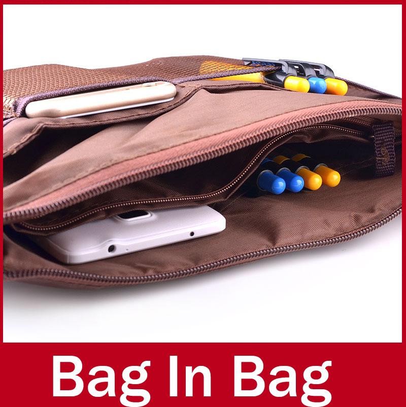 multi fonctionnelle cosmétiques sacs de dames femmes constituent de voyage organisateur de stockage embrayage sac dans le sac à main