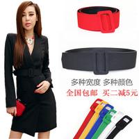 All-match one-piece dress wide belt cummerbund female overcoat ultra wide black fashion cloth decoration trench thin belt