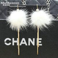 Sweet sable fur tassels eardrop European and American fashion female Earrings Jewelry Free Shipping