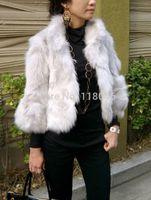 z95 New 2014 winter autumn real natural Import Finland fox short coat jacket white overcoat for women coats warm jackets parka