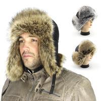 2014 Fashion Bomber Hats Men Russian Hat Winter Warm Ski Furry outdoor hat for men fur cap  Free Shipping