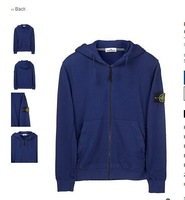 Winter polo STONE brand men's fleece jacket Men's long sleeve cap unlined upper garment Outdoor sports leisure fleece hoodies
