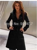 2013 new winter parka women sexy wool blended coat long jacket fashion casual elegant career coat WWF001-B
