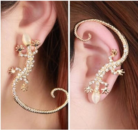 Fashion Night Club Popular Lizards Ear Hang Cool And Widely Animal Cuff Earring E458