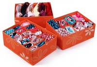 (Three storage boxes/a set)  Non-Woven fabric  and Oxford  storage box for underwear and bras