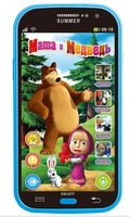 masha and bear toy Electronic Toys Toy Phones russian language learning education children kids mobail phone for baby