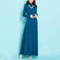 Twods 2015 new autumn winter women basic Turtleneck women maxi sweater solid color long sleeve maxi dress elegant slim dresses