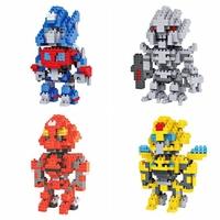 32pcs/lot DHL Free LOZ Robot Diamond Blocks Builing Bricks Educational DIY Set Toys for Children Gift Optimus Prime Bumblebee