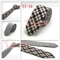In stock Cheap Hot sale Multi color,2015 Brand New,Men Check corbatas necktie,Mens Formal Wedding Solid Skinny Neck Ties,TI16