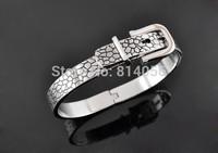 Fashion trends 0.9CM Wide narrow version 0.5CM316L leopard belt buckle stainless steel bracelet titanium shipping