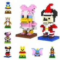 32pcs/lot LOZ Cartoon Diamond Granule Blocks Builing Bricks Educational DIY Set Toys for Children Gift Winnie/Minnie/Goofy