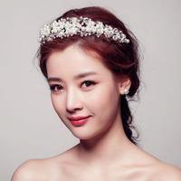 Special!!Bride Headdress Tiaras & Hair Accessories Bridal Accessories Pearl Diamond Headdress Flower 12Pcs/Lot Free Shipping
