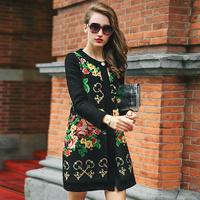 Prase women's 2014 winter print outerwear women's trench print