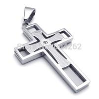 Wholesale + retail , 316L Stainless Steel men's cross Pendant Necklace 10021933(074061)