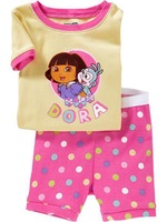 T0127 2015 New design 100% Cotton Children's pajamas , Baby short sleeve pajamas,Kids pyjamas boys girls sleepwear baby wear