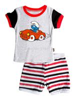 T0136 2015 New design 100% Cotton Children's wear ,Baby short sleeve pajamas,Kids pyjamas boys girls sleepwear set 6set/lot